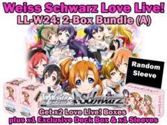 Weiss Schwarz W24 Bundle (A) - Get x2 Love Live! Booster Boxes plus x1 Deck Box & x1 Sleeves