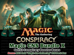 Magic Conspiracy Bundle (X) - Get x2 CNS Booster Boxes & 1 MAX Gold ION Deck Box </#MTGCNS>