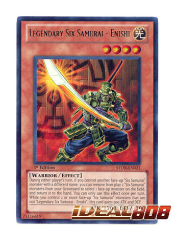 Legendary Six Samurai - Enishi - STOR-EN021 - Ultra Rare - Unlimited Edition