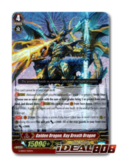 Golden Dragon, Ray Breath Dragon - G-SD02/001EN - RRR (Foil ver.)
