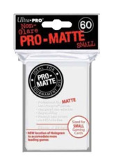 Ultra Pro Matte Non-Glare Small Sleeves 60ct - White (#84022)
