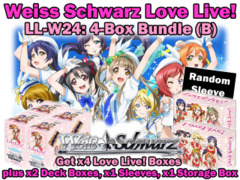 Weiss Schwarz W24 Bundle (B) - Get x4 Love Live! Booster Boxes plus x2 Deck Box, x1 Storage Box & x1 Sleeves
