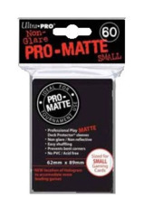 Ultra Pro Matte Non-Glare Small Sleeves 60ct - Black (#84021)