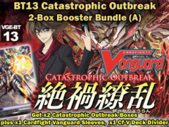 Cardfight Vanguard BT13 Bundle (A) - Get x2 Catastrophic Outbreak Booster Box + Cf-Vanguard Sleeves