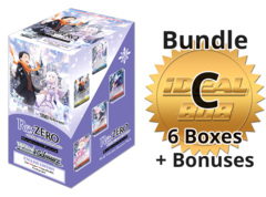 Weiss Schwarz RZ/S68 Bundle (C) Gold - Get x6 Re:ZERO - Memory Snow Booster Boxes + FREE Bonus * PRE-ORDER Ships Aug.28