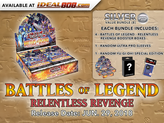 Battles of Legend - Relentless Revenge Bundle (B) - Get 4x Booster Boxes + Bonus Items * PRE-ORDER Ships Jun.29, 2018