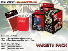 Weiss Schwarz APO Variety Pack - Get x1 Fate/Apocrypha Booster Box & x2 Trial Deck(Plus) + FREE Bonus Items