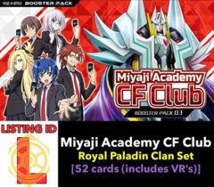 # Miyaji Academy CF Club [V-BT03 ID (L)]