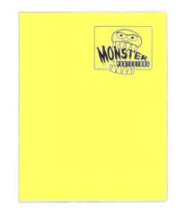 Monster Protectors 4 Pocket Binder - Matted Yellow