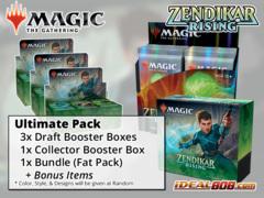 !MTGZNR ULTIMATE PACK - Get x3 Zendikar Rising Booster Box; x1 Bundle; x1 Collector Box + FREE Bonus Items * PO Ships Sep.25