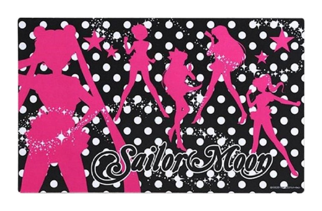 Sailor Moon Character Cast in Pink Silhouette Bandai Playmat
