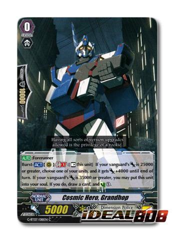 G-BT07//081EN C CARDFIGHT VANGUARD CARD GRANDHOP COSMIC HERO