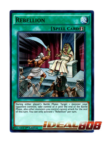Rebellion - MIL1-EN013 - Ultra Rare - 1st Edition