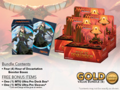 MTGHOU Bundle (B) Gold - Get x4 Hour of Devastation Booster Box + FREE Bonus Items
