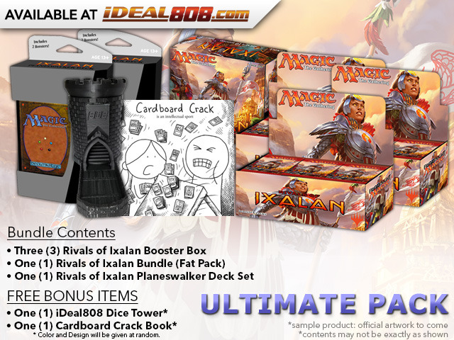 MTGRIX Ultimate Pack - Get x3 Rivals of Ixalan Booster Box; x1 Bundle; & 1 Planeswalker Deck Set + FREE Bonus Items