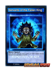 Servants of the Fallen King - SBSC-ENS04 - Super Rare - 1st Edition