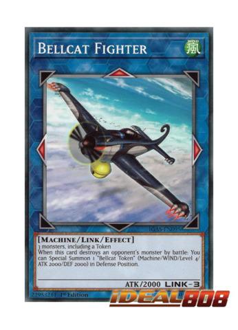 Common 1st Yugioh IGAS-EN095 Bellcat Fighter x3