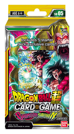 Starter Deck SD05 Dragonball Super Card Game The Crimson Saiyan