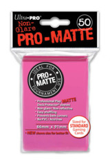 Ultra Pro Matte Non-Glare Large Sleeves 50ct. - Bright Pink (#84147)