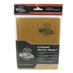 Monster Protectors 4 Pocket Binder - Matted Gold