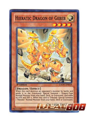 Hieratic Dragon of Gebeb - GAOV-EN019 - Super Rare
