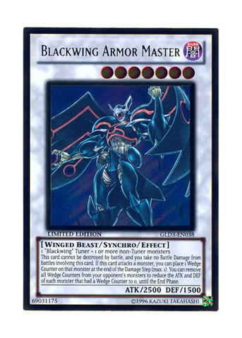 Blackwing Armor Master - GLD3-EN038 - Gold Rare - Limited Edition