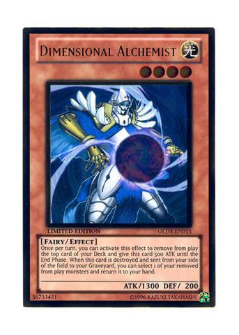 GLD3-EN015 Dimensional Alchemist Limited Edition Yugioh Gold Rare