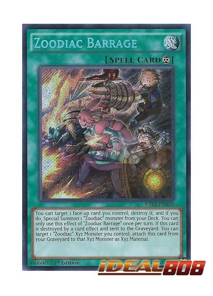 Zoodiac Barrage - RATE-EN059 - Secret Rare - 1st Edition
