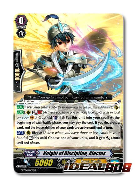 Knight of Discipline, Alectos - G-TD11/013EN - TD (common ver.)
