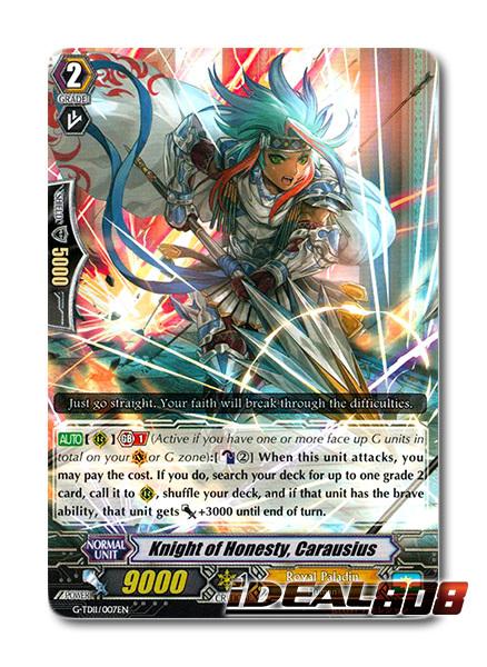 Knight of Honesty, Carausius - G-TD11/007EN - TD (common ver.)