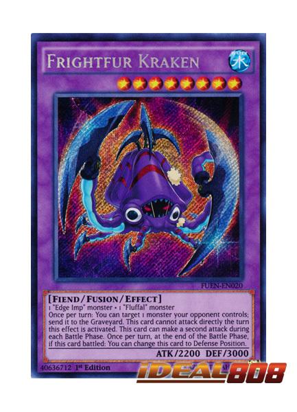 kaartspellen Verzamelingen FUEN-EN020 Frightfur Kraken Secret Rare 1st Edition Mint YuGiOh Card