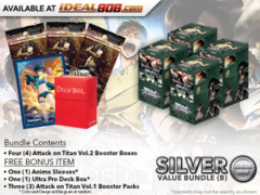 Weiss Schwarz AoT2 Bundle (B) Silver - Get x4 Attack on Titan Vol.2 Booster Boxes + FREE Bonus