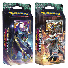 SM Sun & Moon - Guardians Rising (SM02) Pokemon Theme Deck Set - Hidden Moon & Steel Sun (Lunalal & Solgaleo) [Both Decks]