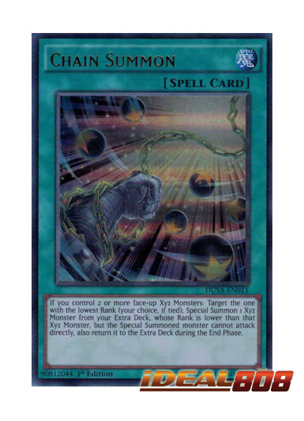 Chain Summon Dusa En011 Ultra Rare 1st Edition Yugioh Singles Special Releases Ygo Duelist Saga Ideal808 Com
