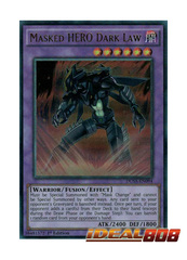Masked HERO Dark Law - DUSA-EN094 - Ultra Rare - 1st Edition