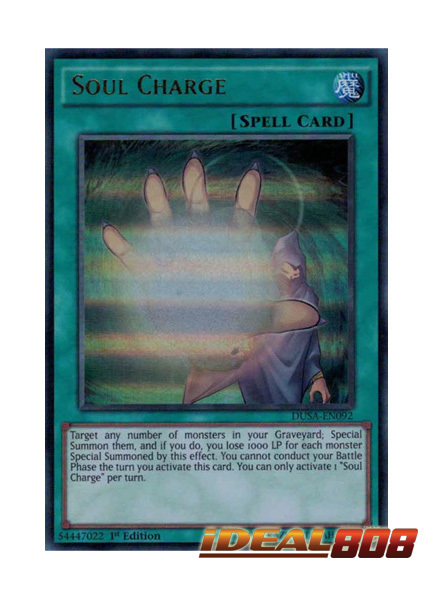 DUSA-EN092 Soul Charge Ultra Rare 1st Edition Mint YuGiOh Card