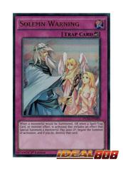 Solemn Warning - DUSA-EN085 - Ultra Rare - 1st Edition