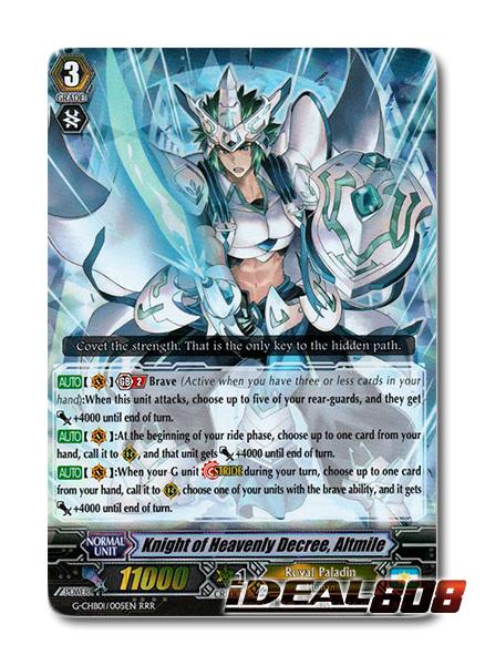 Altmile RRR 1x Cardfight! G-CHB01//005EN Vanguard Knight of Heavenly Decree