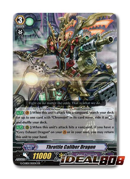 Throttle Caliber Dragon - G-CHB01/015EN - RR - Cardfight Vanguard