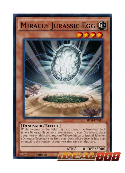 MIRACLE JURASSIC EGG SR04-EN011-1ST EDITION YU-GI-OH CARD