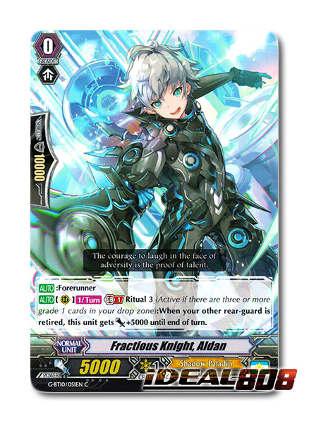 Cardfight Vanguard  x 4 Knight of Scramble C Pack Fresh G-BT10//048EN Edern
