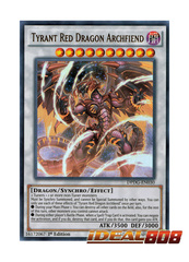 Tyrant Red Dragon Archfiend - DPDG-EN030 - Ultra Rare - 1st Edition