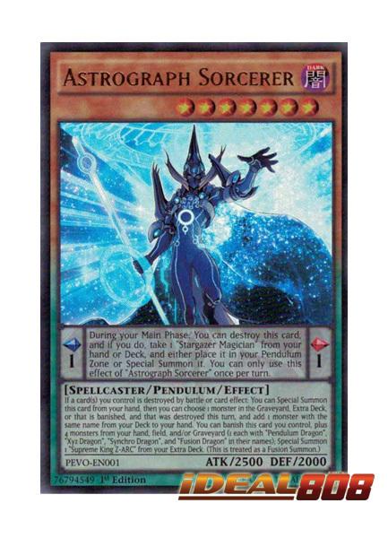 Astrograph Sorcerer - PEVO-EN001 - Ultra Rare - 1st Edition