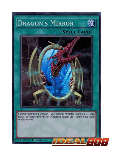Dragon's Mirror - PEVO-EN039 - Super Rare - 1st Edition