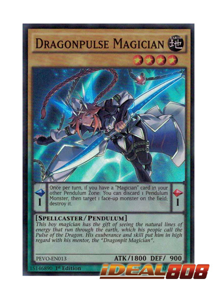 Dragonpulse Magician - PEVO-EN013 - Super Rare - 1st Edition