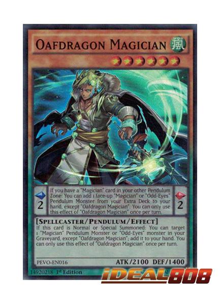 Oafdragon Magician - PEVO-EN016 - Super Rare - 1st Edition