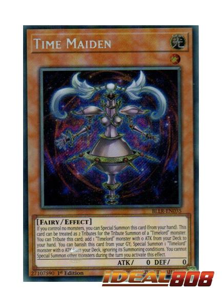 Time Maiden - BLLR-EN035 - Secret Rare - 1st Edition