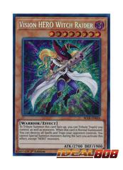 Vision HERO Witch Raider - BLLR-EN026 - Secret Rare - 1st Edition