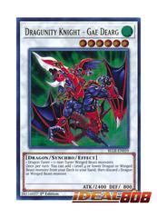 Dragunity Knight - Gae Dearg - BLLR-EN059 - Ultra Rare - 1st Edition