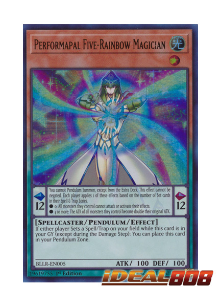 Performapal Five-Rainbow Magician BLLR-EN005 Ultra Rare 1st Edition YuGiOh